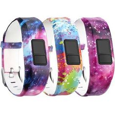 COSMIC-DOODLES-3-PACK-Small-Large-Wristband-Band-Strap-For-GARMIN-VIVOFIT-3-amp-JR