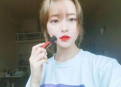 ulzzang, girl, and hwamin image Pretty Asian, Beautiful Asian Girls, Korean Make Up, Korean Girl, Korean Style, Korean Beauty, Asian Beauty, Guys And Girls, Cute Girls