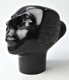 Black Head by Elizabeth Catlett. Marble sculpture circa 1973-74. antiquetrader.com