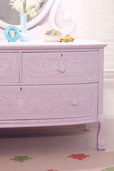 6 Easy, DIY Ways to Update an Old Dresser: DIY Painted Inlay Dresser