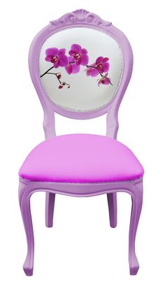 Bespoke Orchid Dinning Chair by NapAtelier on Etsy, €261,00