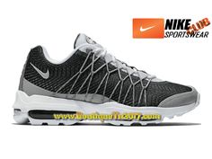 best service e5a15 9409a Nike Air Max 95 Ultra Jacquard Chaussures Nike Basket Pas Cher Pour Homme  Blanc Gris 749771-100