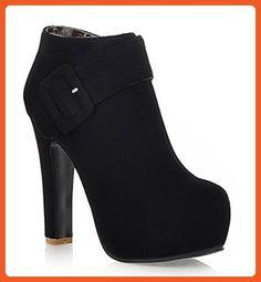 Aisun Women's Elegant Chunky High Heel Ankle Boots Black 5.5 B(M) US - Boots for women (*Amazon Partner-Link)