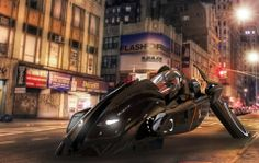 Futuristic car, rendered