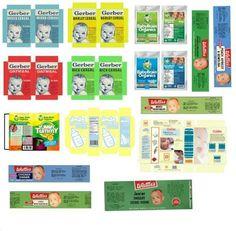 Resultado de imagen de imprimibles de etiquetas para latas en miniatura