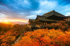Histoire de Kyoto, Japon (ici temple Kiyomizu-dera)