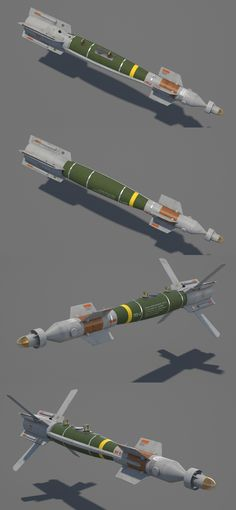"""3D model """"GBU-12 Paveway II"""" Laser-Guided Bomb #3Dmodel #3Dartist #Bomb #Guided #Weapons #Collection #3Dsmax #Vray #Frigatez"""