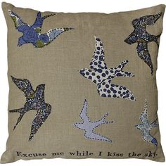 Kiss the Sky Bird Pillow