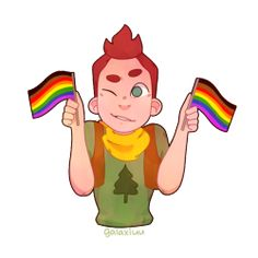 Camp camp david | Tumblr this is cute even thou I don't agree the black and brown colors on the pride flag