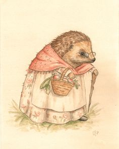 Nell Print portrait hedgehog painting by TheBloomingHare Christmas Illustration, Illustration Art, Illustrations, Adorable Quotes, Soft Heart, Watercolor Drawing, Woodland Creatures, Color Of Life, Vintage Pictures