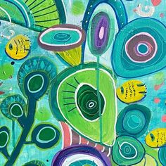"Anna Just on Instagram: ""Canvas detail 🧐🤓 #canvaspainting #acrylicpainting #annajustart #paintingupcountry #tropicalfish #paintingfortheprocess"" T Art, Mixed Media Artwork, Tropical Fish, Anna, Detail, Instagram"