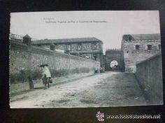POSTAL DE TETUAN : CUARTEL DE REGULARES . ESCRITA EN 1922 POR SOLDADO , GUERRA DE AFRICA.