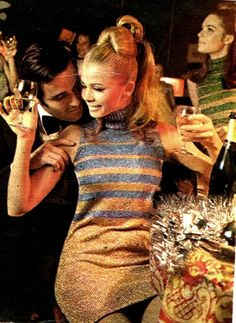 This is what parties at my house should look like.  I need better friends : A swinging sixties party.