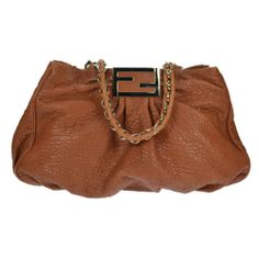 Fendi MIA Forever Shoulder Bag Cognac Leather Gold Hardware Authentic Pre Owned | eBay