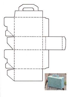 Koffer | Bastelfrau ® Diy Gift Box, Diy Box, Diy Gifts, Diy And Crafts, Crafts For Kids, Paper Crafts, Diy Karton, Carton Diy, Valentines Gift Box