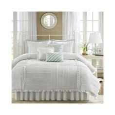 Madison Park 7-Piece Marlow Comforter Set, Queen, White