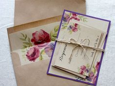 Purple Rustic Wedding Invitations Purple por LovelyRusticWeddings