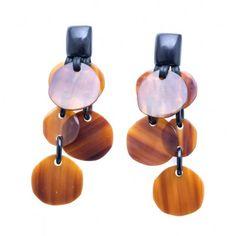 Horn Chain Statement Earrings