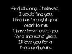 Christina Perri lyrics  A Thousand Years
