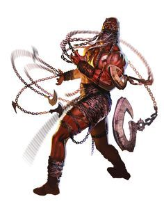 A Chain Devil. These were the most powerful 'regular soldiers' among the host that attacked Telflamm. A single one could fight on-par with a Shadowmaster Hand, and these were responsible for killing many of Telflamm's defenders.