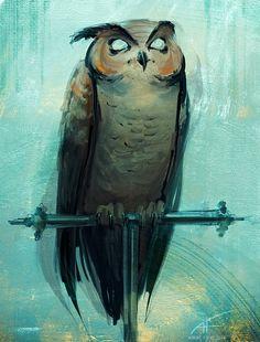 Blind Owl, Aurore Folny on ArtStation at http://www.artstation.com/artwork/blind-owl