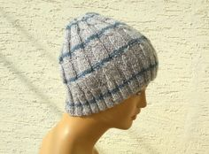 Knitted cap mens knit hat mens hat cable knit by KnitterPrincess, $24.00