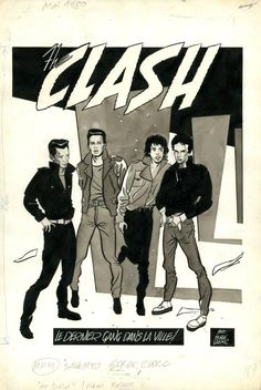 The Clash - Serge Clerc Rock Posters, Band Posters, Concert Posters, Rock And Roll, The Future Is Unwritten, Anton, Music Like, Music Stuff, British Punk