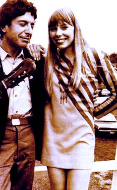 Leonard Cohen and Joni Mitchell