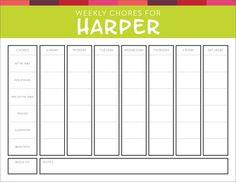 Lime Happy Chores Calendar