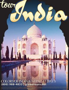 vintage travel poster india by amber mejias