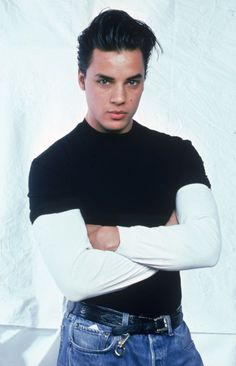 Nick Kamen in a 1950's style quiff. Kamen was a frequent model of the Buffalo collective spear headed by Ray Petri.