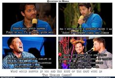 I like how he straight away knew that Jared and Jensen would stick together which is shoo cute