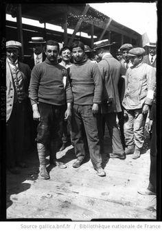 Targa Florio, 1908, Trucco [vainqueur] et son mécano : [photographie de presse] / [Agence Rol] - 1