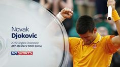 ‏5/17/15 Nole now 19 wins H2H v Roger's 20.... Via Sky Sports Tennis: Novak Djokovic is champion! The World No 1 defeats Roger Federer 6-4 6-3 to claim his 24th Masters title.