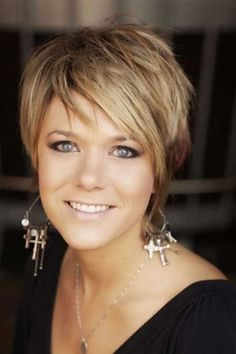 Cute Short Hair Styles for Women 2014...thinking i could get away with the color too...
