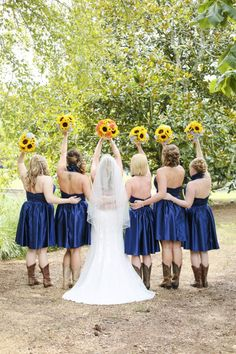 ac8dad38bb A rustic wedding with a beautiful barn and a sunflower theme Camo Wedding