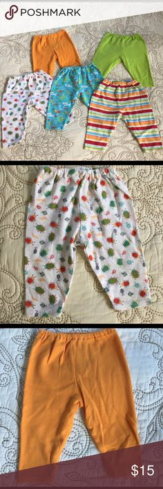 Zutano pants lot. 5 pairs included, size 0-6 m. 5 pairs of the cutest Zutano baby pants! Some never worn and some barely worn! Excellent condition. Lot includes lime green, striped, under the sea, orange & bugs. More Zutano listed-Bundle & Save even more! 100% cotton! Zutano Bottoms