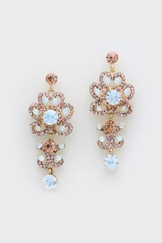 Celeste Earrings in Champagne Rose + Aspen Ice Blue