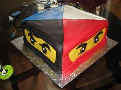 Joseph has changed his mind. Now he wants ninjago. Ninjago Cake by Cake Maniac, via Flickr