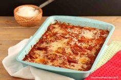 Pizza Squash Noodle Lasagna Bake