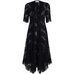 Pavilion Asymmetric Dress (52.825 RUB) ❤ liked on Polyvore featuring dresses, asymmetrical summer dress, sleeved summer dresses, v neck dress, v neck jersey dress and v neck summer dresses