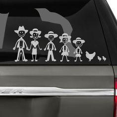 Cowboy Family Car Decal