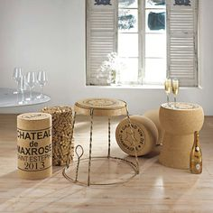 Giant cork stool...for the wine lovers...