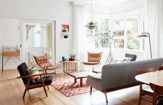 mid-century furniture.