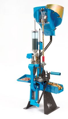 Dillon Precision's XL 650 Progressive Reloading Machine- I have this set up with the RCBS pistol bullet feeder. It makes for easy reloading for pistol. My only regret is not having the funds to put a mr bullet feeder and automater on it.