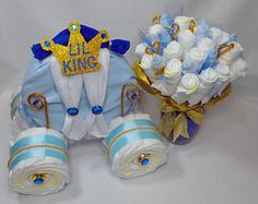 princess carriage diaper cake instructions