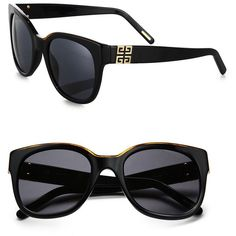 Givenchy Oversized Round Wayfarer Sunglasses ($340) ❤ liked on Polyvore featuring accessories, eyewear, sunglasses, glasses, black, givenchy, wayfarer sunglasses, wayfare, black lens sunglasses and uv protection sunglasses