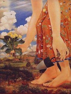 Kit Williams. Я сам, когда с небес роскошная весна Повеет негою воскреснувшей природе, С тяжелым заступом явлюся в огороде; Приду с тобой садить коренья и цветы.  Е.А. Баратынский. Родина.1821