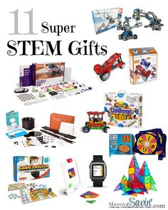 Super STEM Gifts perfect for the budding engineer or scientist!