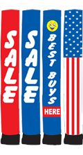 """18 foot Tall Sky Dancing Tube """"Sale"""" """"Best Buys"""" and Patriotic (EZ842-18M)  Requires one E-Z 18 Air Blower fan (EZ841-18) that is ordered separately.  Pricing: $168"""